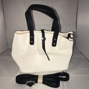 White Handbag Faux Leather